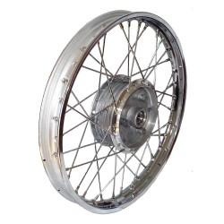 Koło kompletne obręcz 1,50x16 w chromowanej stali z piastą 16 wszystkie typy motorowerów