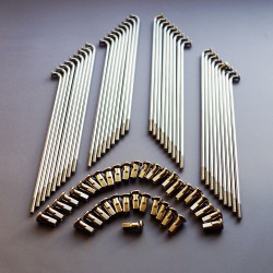 """Szprycha Simson 36 sztuk S51, S50, S53, S70, S83, KR51 16"""" 143,5mm M3,50 z nakrętką Org (nierdzewna)"""