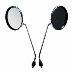Spiegel chrom, rund, Ø116, Ø116, M8 für Moped
