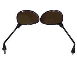 Spiegel schwarz, oval, M10