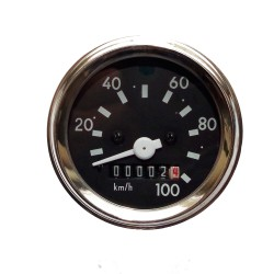 Speedometer Tacho Chrome Ø60mm bis 100 km/h Simson S51, S53, S70, S83