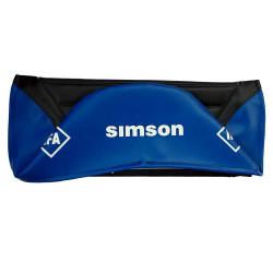 Pokrowiec siedzenia obicie Simson S51E pikowany czarno-niebieski MZA