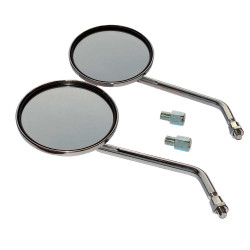 Mirror Ø 120mm M10 set - 2 pieces chrome