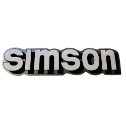 Naklejka Simson zbiornika paliwa biel-czerń-srebr.