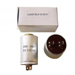 Flasher relay 6V 2x21W