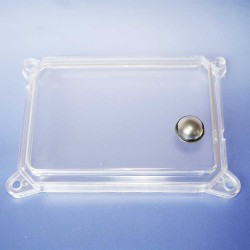 Tachometer glass rectangular for Speedometer SR50, SR80