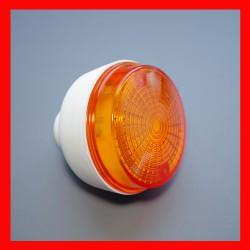 Kierunkowskaz okrągły tył, biały korpus,  pomarańczowy kloszz uszczelką Simson, MZ
