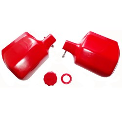 Hand Protectors red classic MZ and Cover for master cylinder ETZ all types