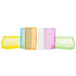 Portable Hard Plastic Battery Case Holder Storage Case Box 18650 battery case for 18650 battery CR123