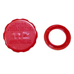 Closure cover for the brake master cylinder with vent ring red MZ ETC 125, ETC 150, ETC 250, ETC 251, ETC 301