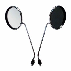 Mirror Ø 116mm M8 set - 2 pieces chrome
