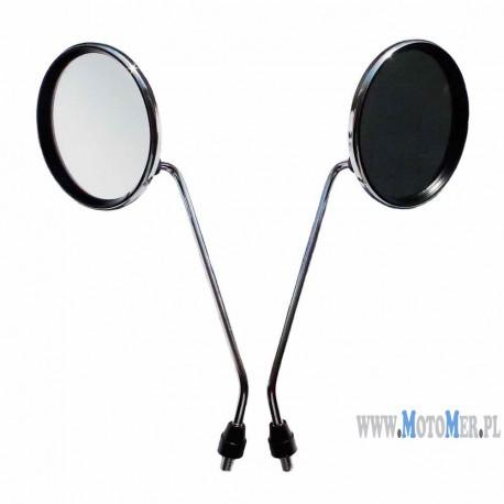 Mirror Ø 116mm M8 set - 2 pieces chrome